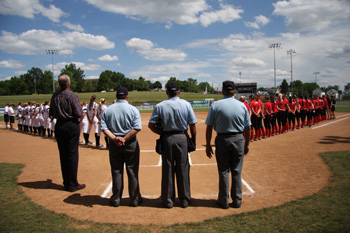 National Anthem before an Akron Racers Game